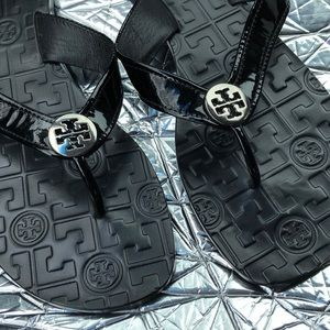 Tory Burch Shoes - Tory Burch Leather Thong Flip Flip Sandals